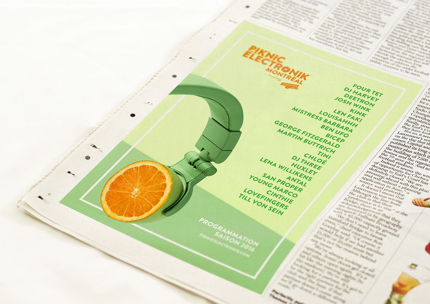print Fruit Advertising  Photography  electronic festival summer ethos