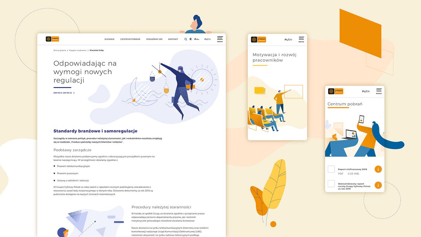 animation  corporate CSR design ILLUSTRATION  report Web