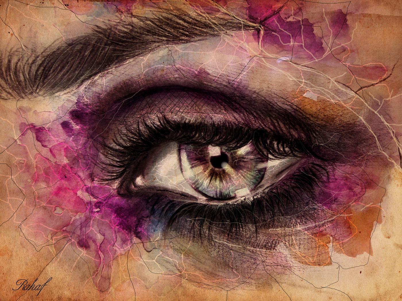有獨特感的24個手繪眼睛欣賞