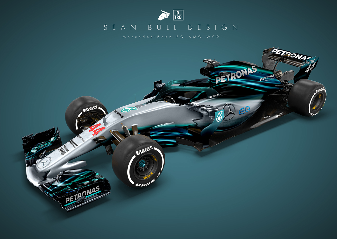 Mercedes Wo9 2018 Livery Concept Drivetribe On Behance