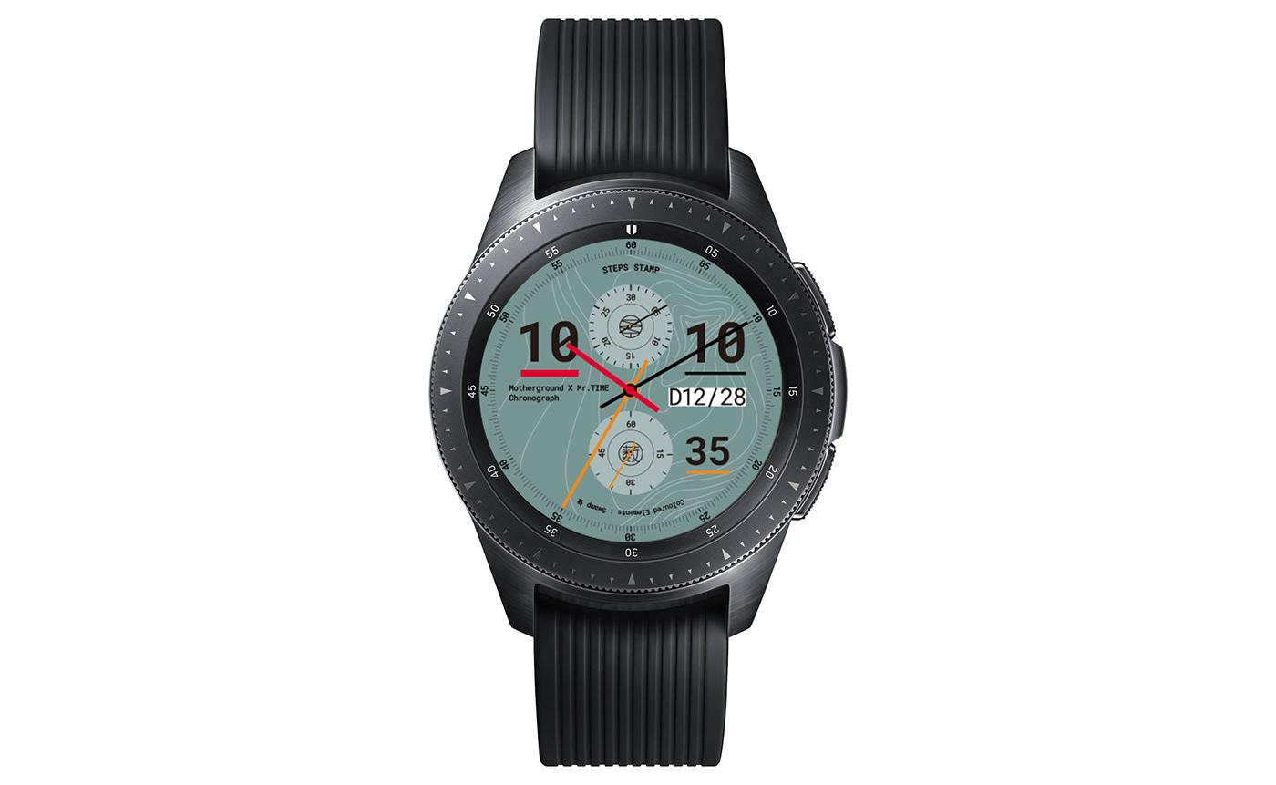 MRTIME watchface Smart watch ux UI portfolio Digital Contents Wearable motherground