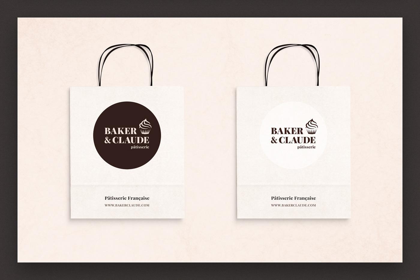 Logotype Logo Design Packaging bag pastry graphic design  identity brand print design  logo