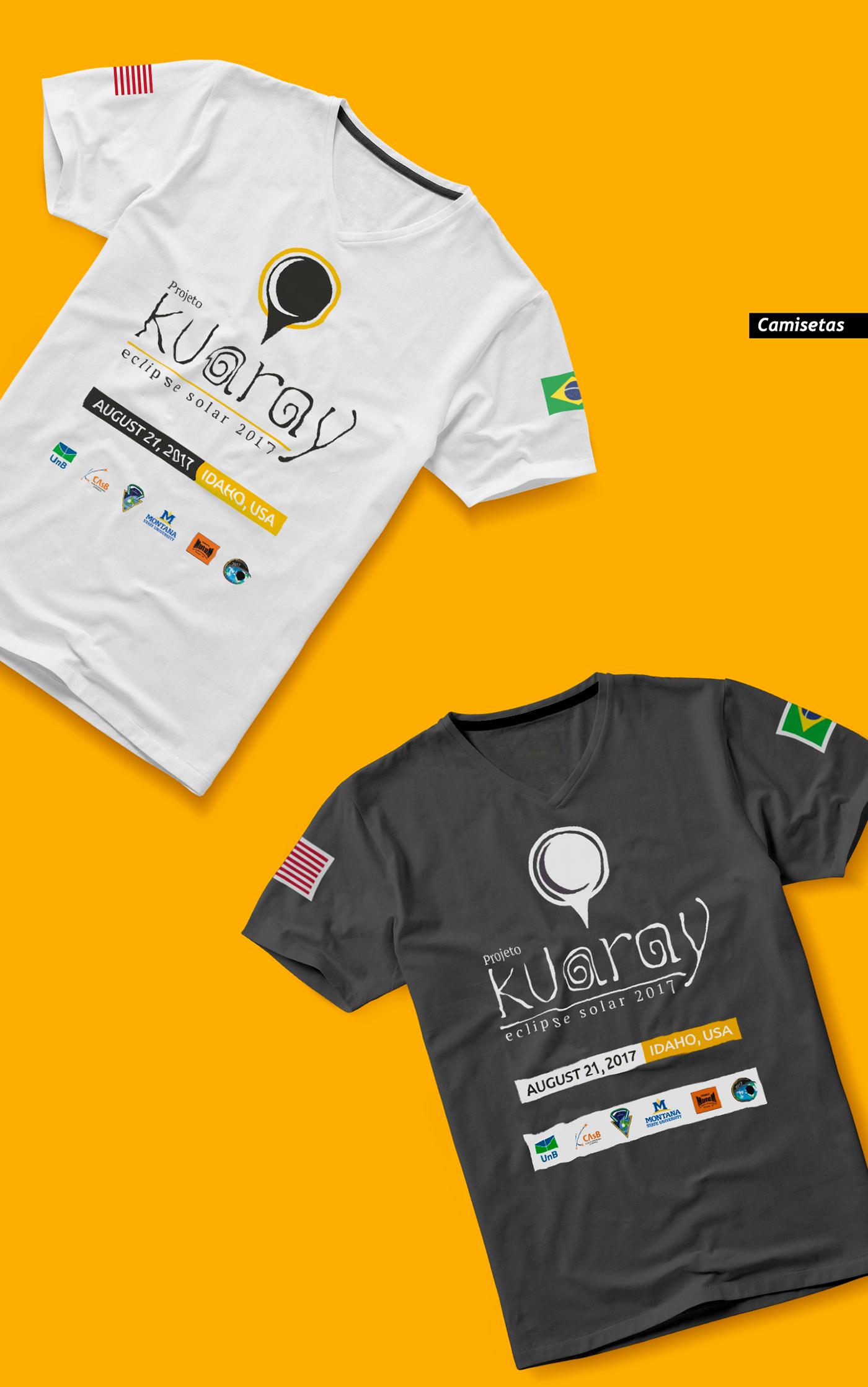eclipse astronomia kuaray Sol Lua logo video fabrica de criação unb casb