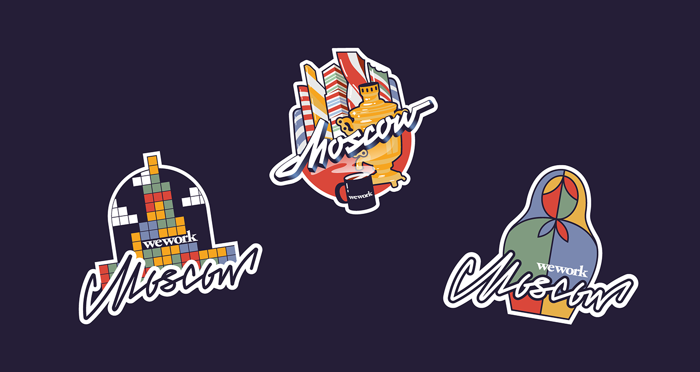Stickers for WeWork Moscow