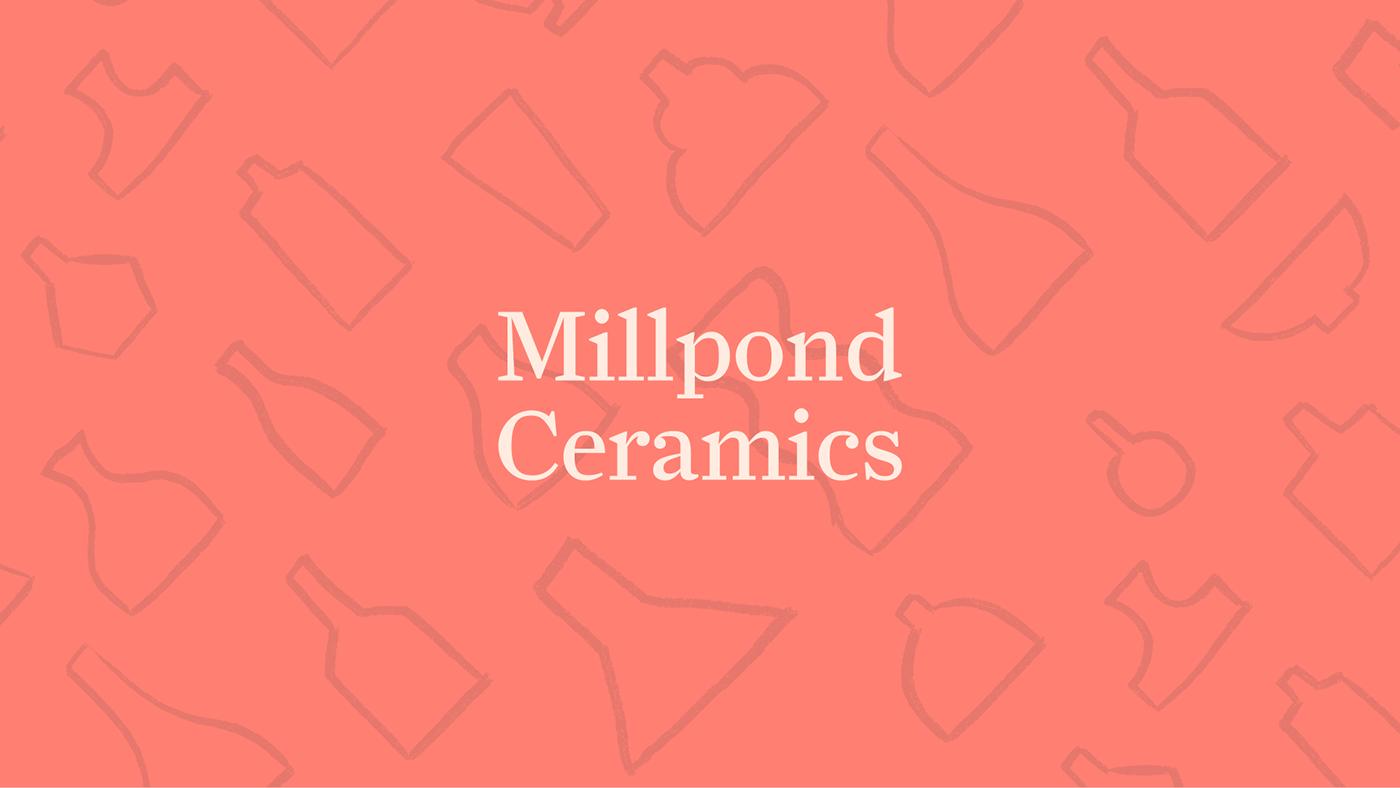 branding  business card ceramics  identity Pottery print design  Small Business Workshop