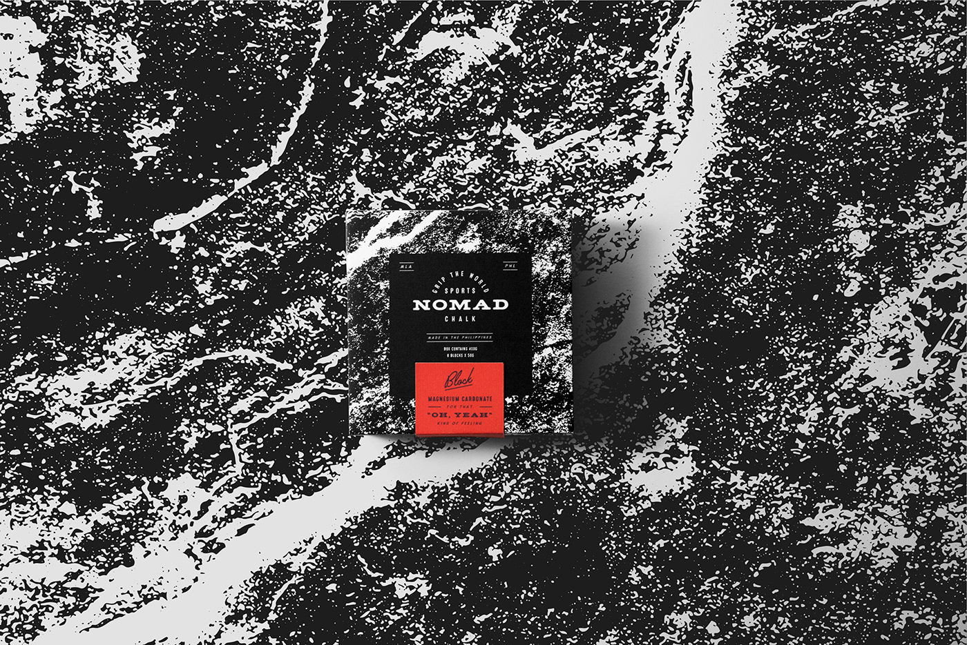 Packaging sports black texture White chalk fitness gym climb mexico