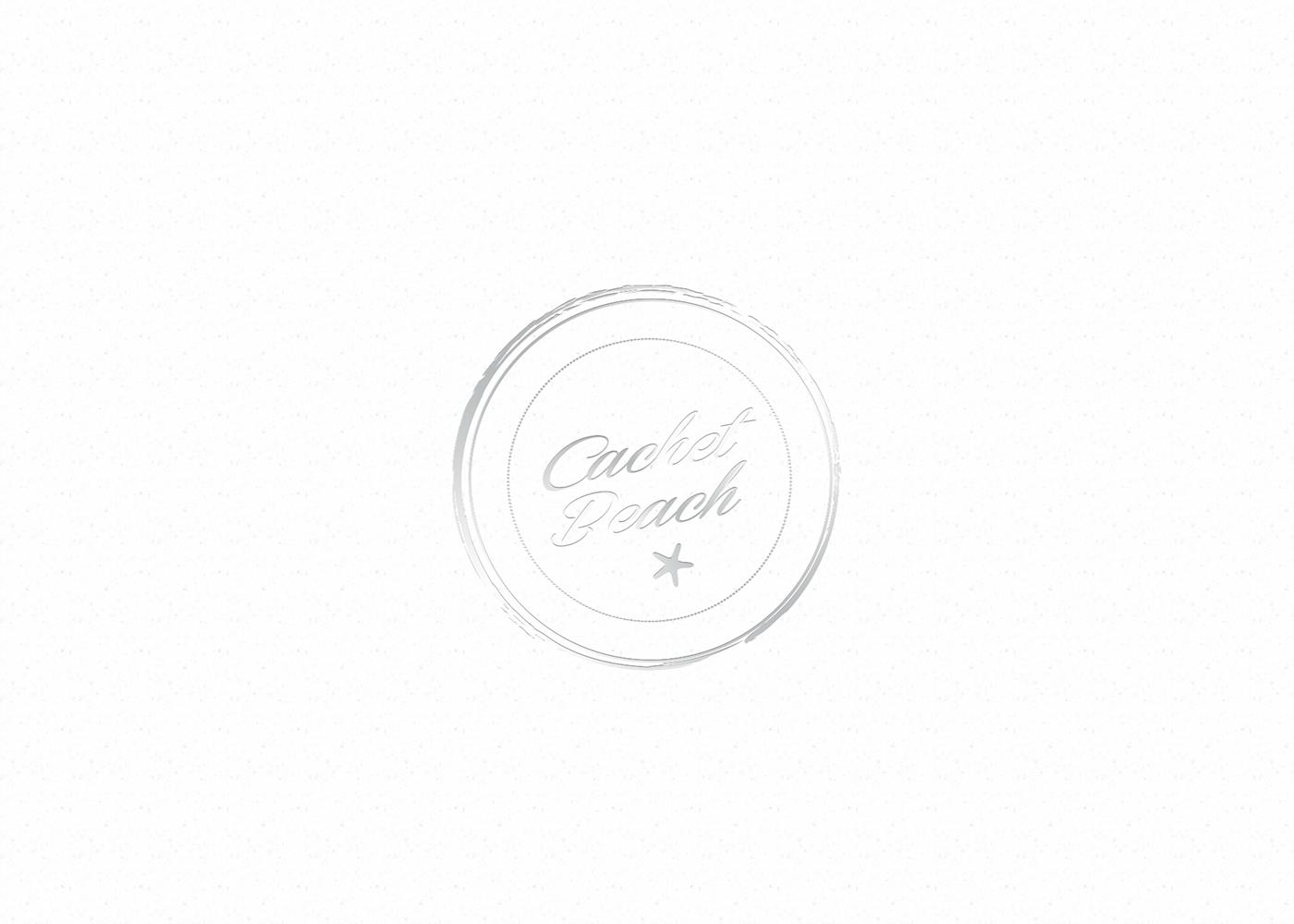 Cachet Beach logo branding  design