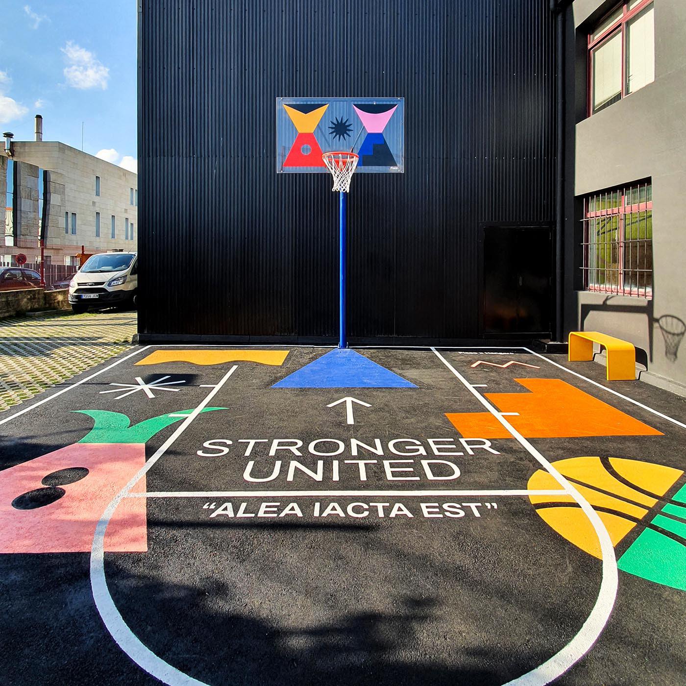 basketball,composition,court,geometry,Graffiti,Layout,NBA,shapes,streetart,Stronger united
