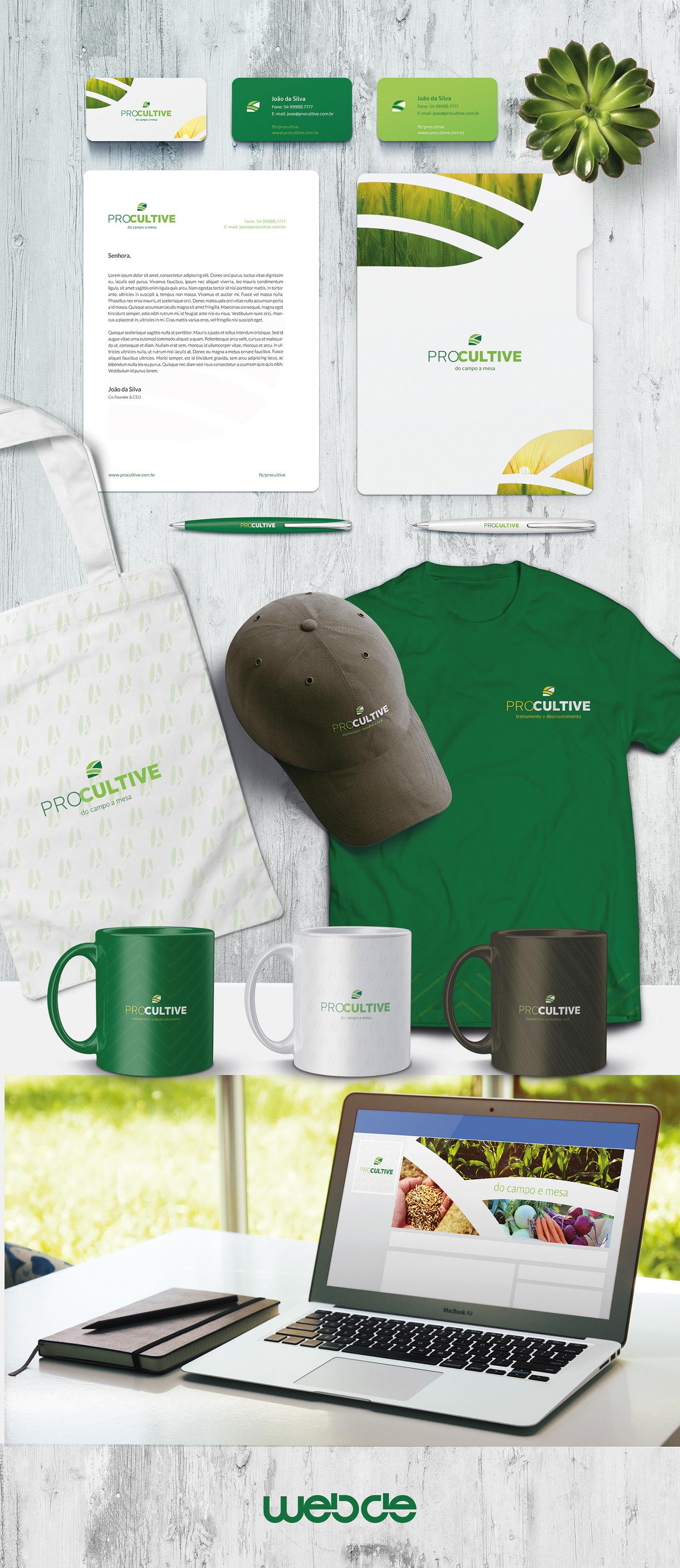 agricultura branding  design gráfico graphic design  green leaf logo marca agriculture business