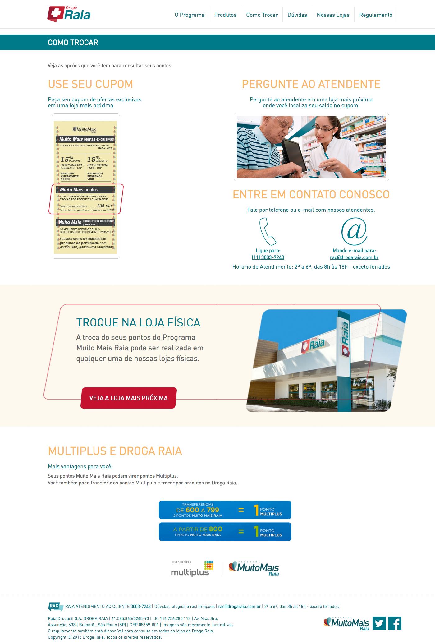 Fidelidade,droga raia,PMMR,Webdesign,Produtos