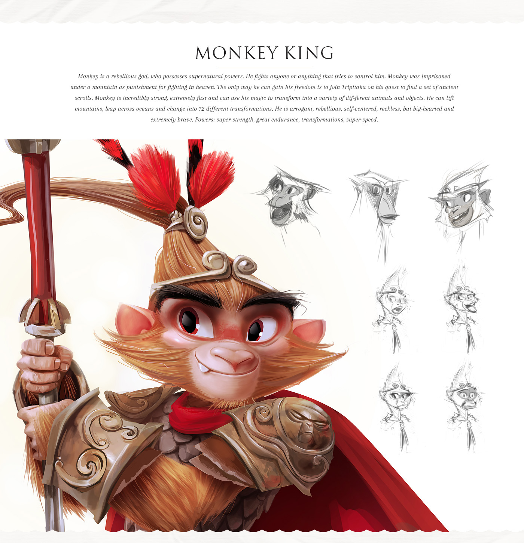 monkey king pig fable animal ILLUSTRATION  Character legend china chinese