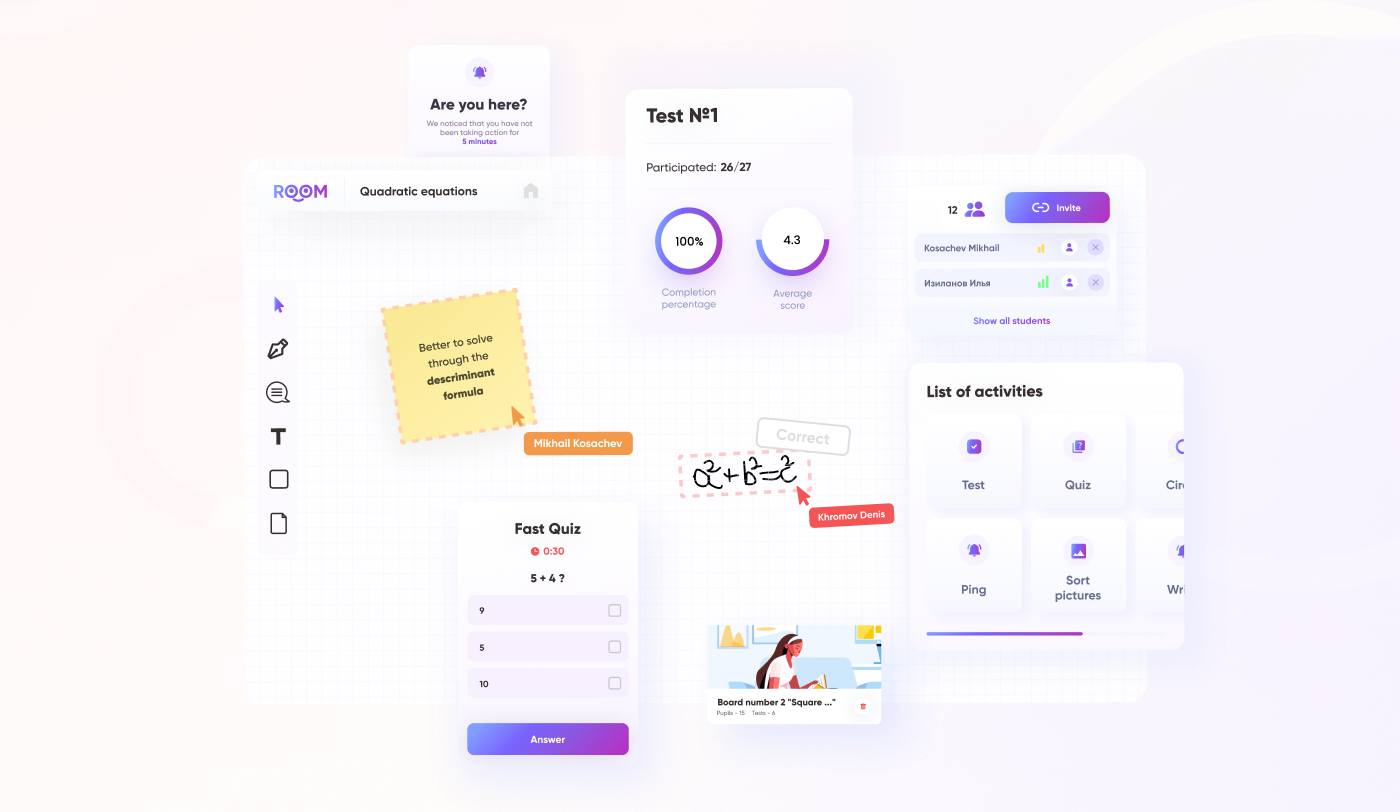Big visual with UI elements collage