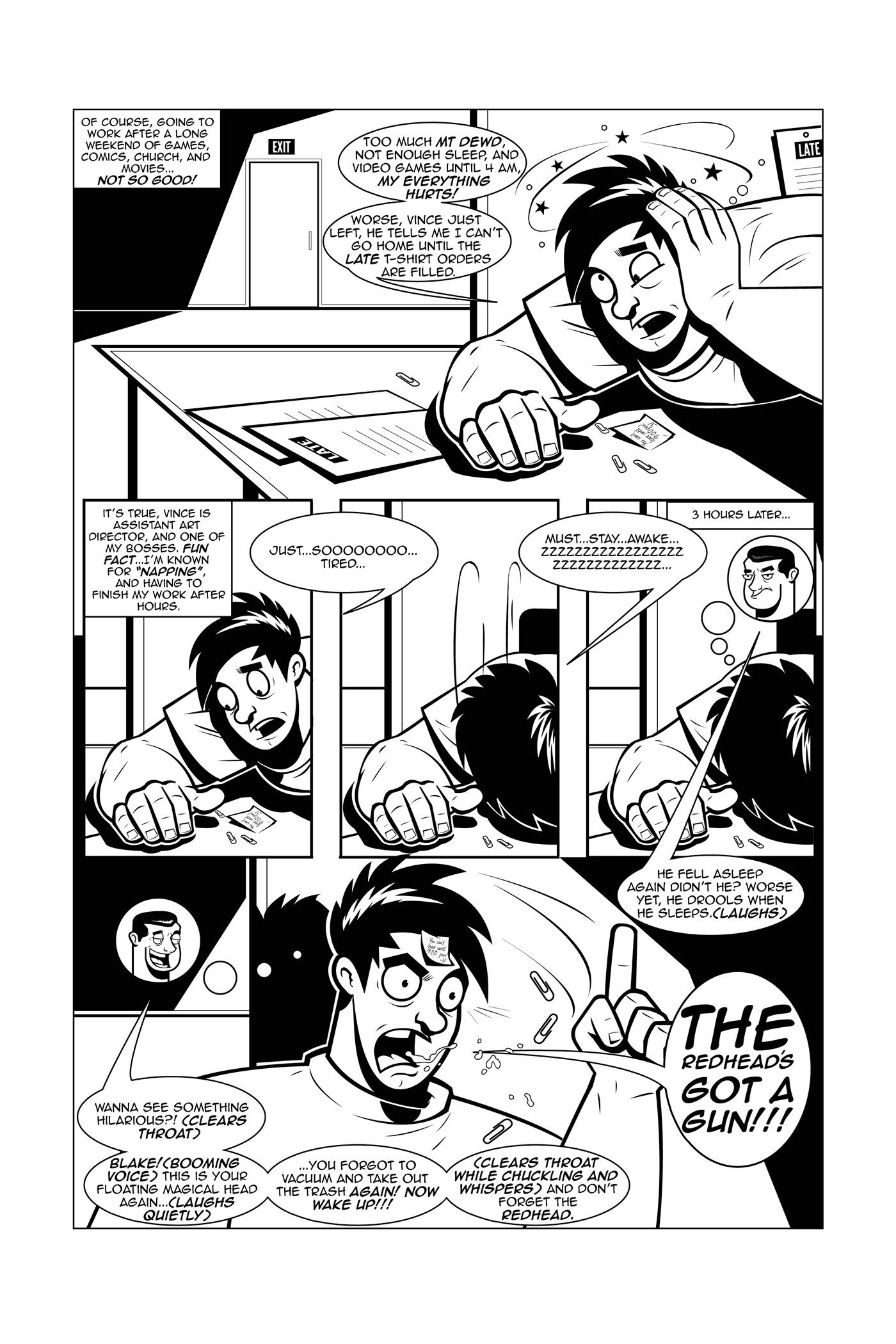 Image may contain: cartoon, comic and book