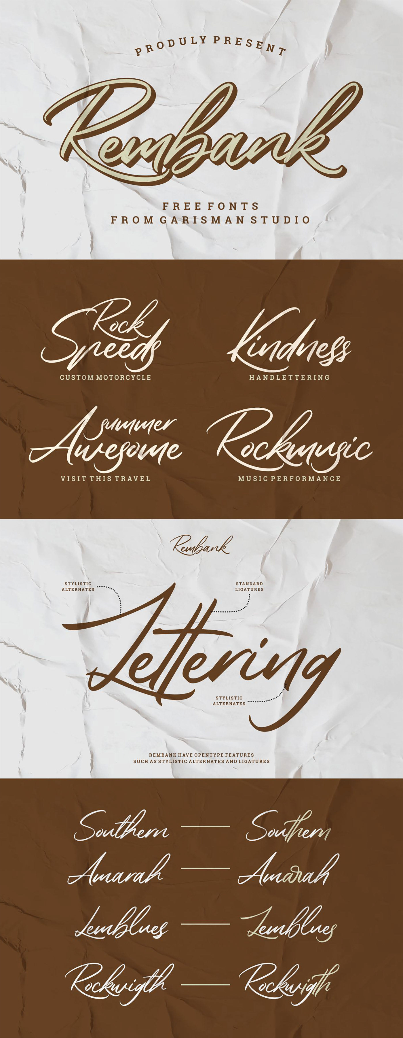 Шрифт – Rembank