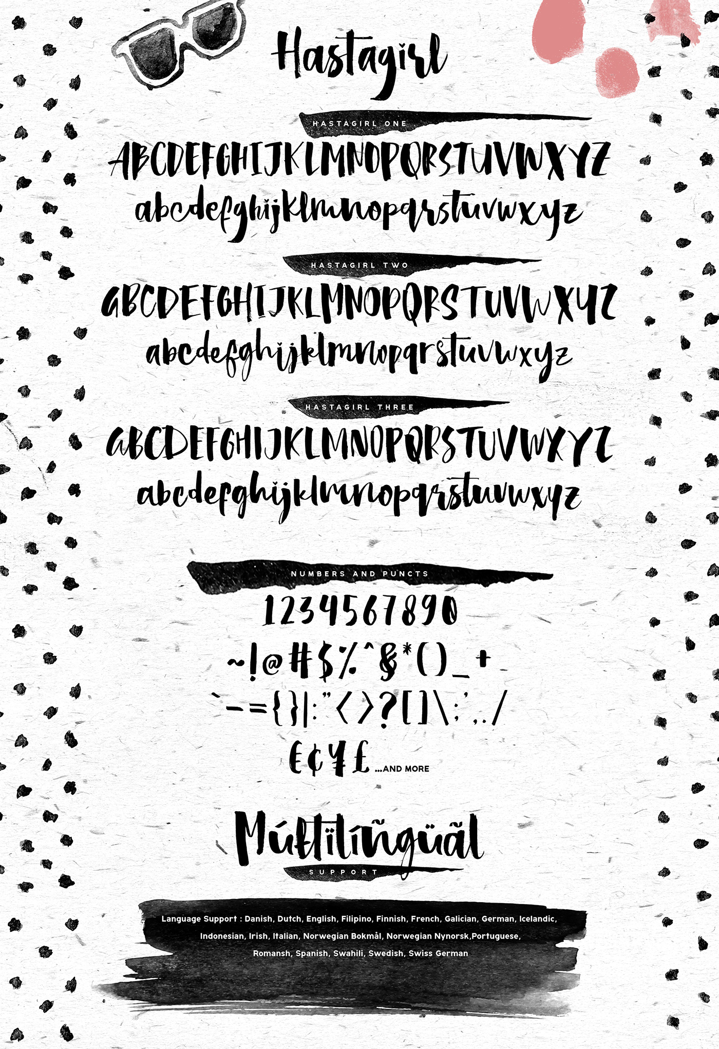 Hastagirl chic brush watercolor font on behance c o n t e n t s altavistaventures Image collections