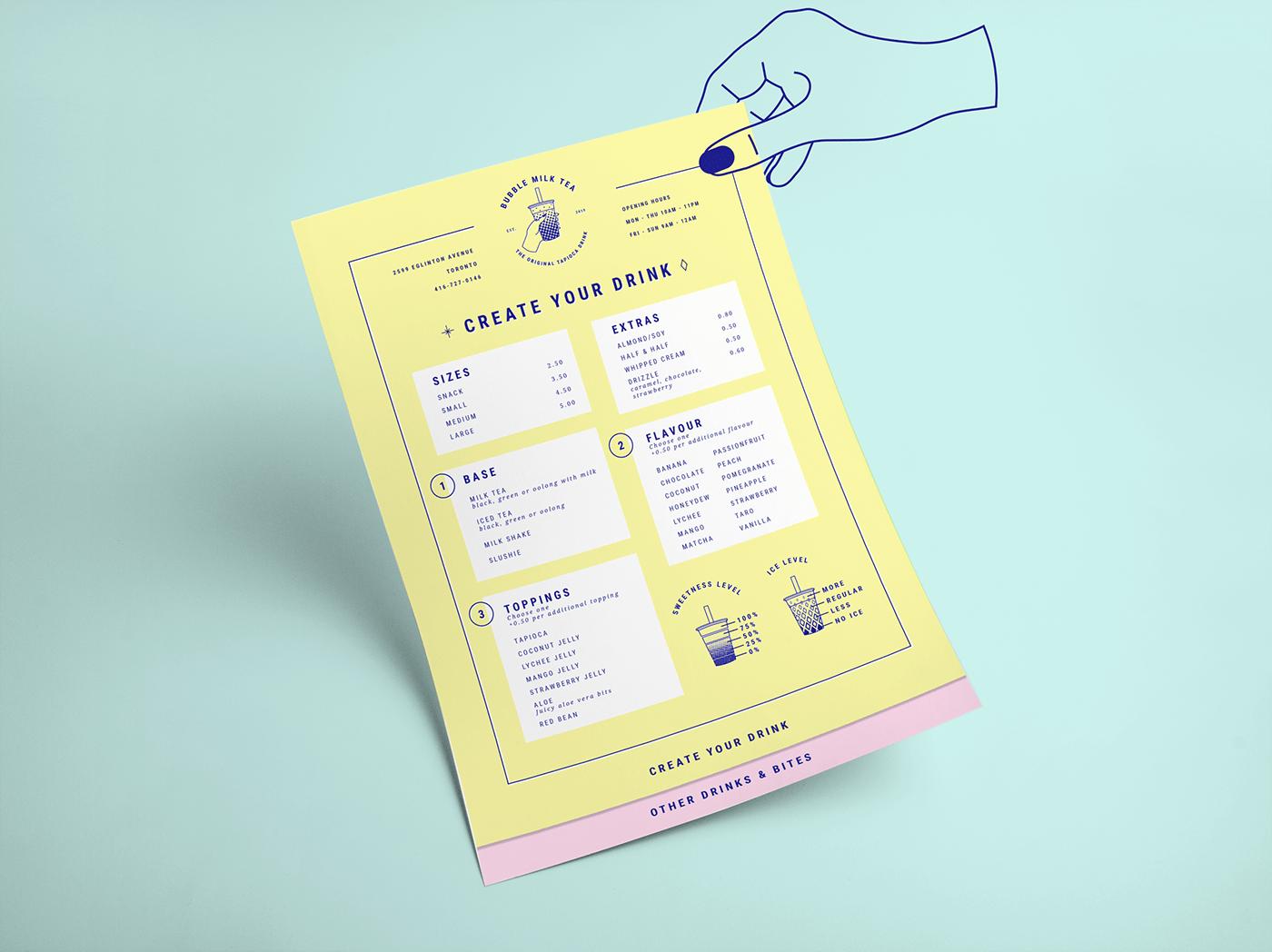 bubble tea Boba branding  graphic design  Logo Design logo restaurant bar