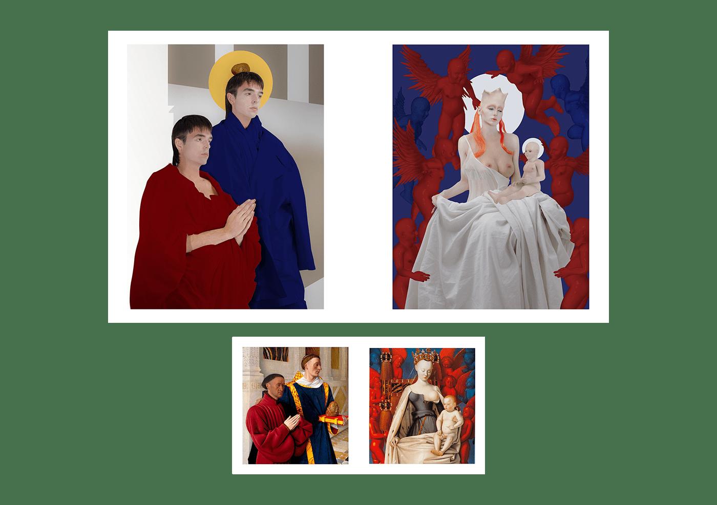 3D 3d art Digital Art  collage composition