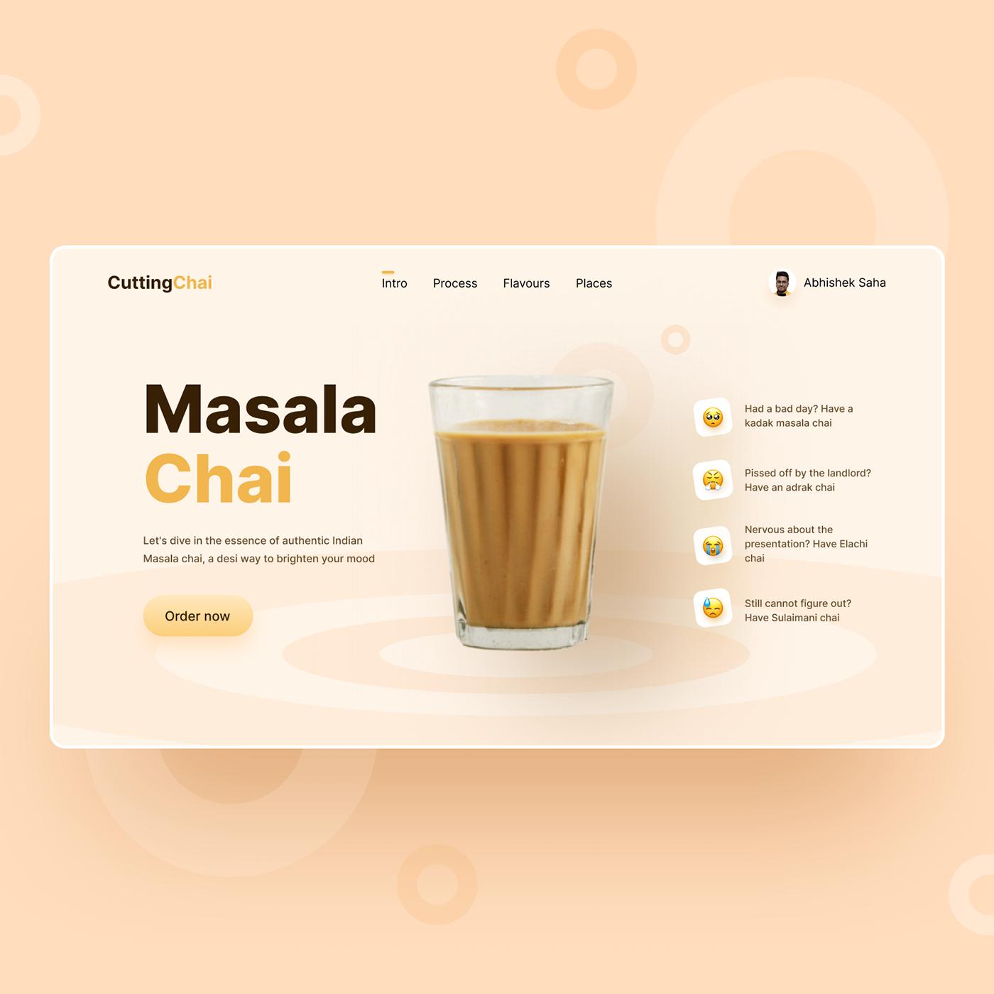 design instagram presentation product design  Tea shop trendy design ui design ui ux UX design Web Design