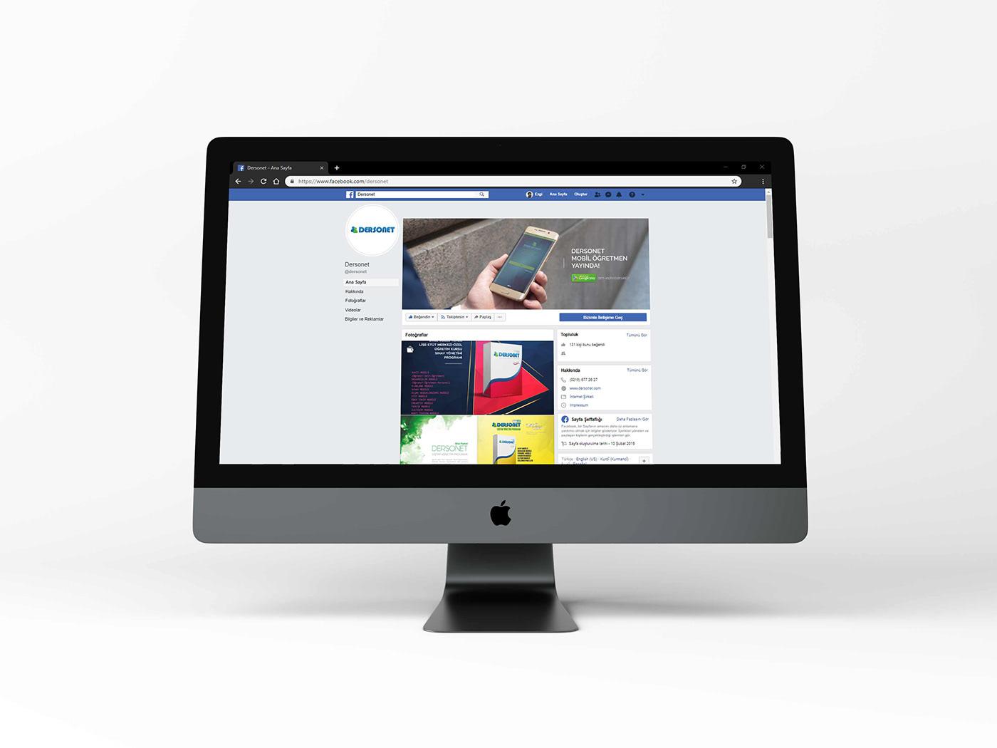dersonet datasis facebook twitter instagram post design cover design social media digital media branding
