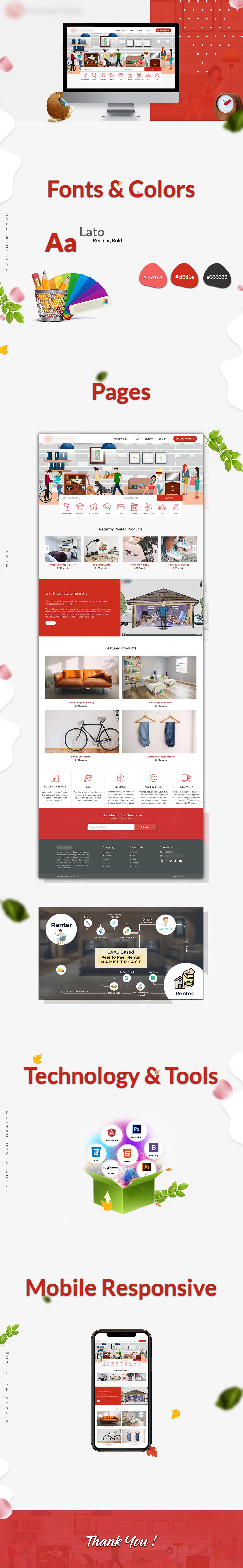 Borrow graphic design  ILLUSTRATION  Marketplace rental share Website Design