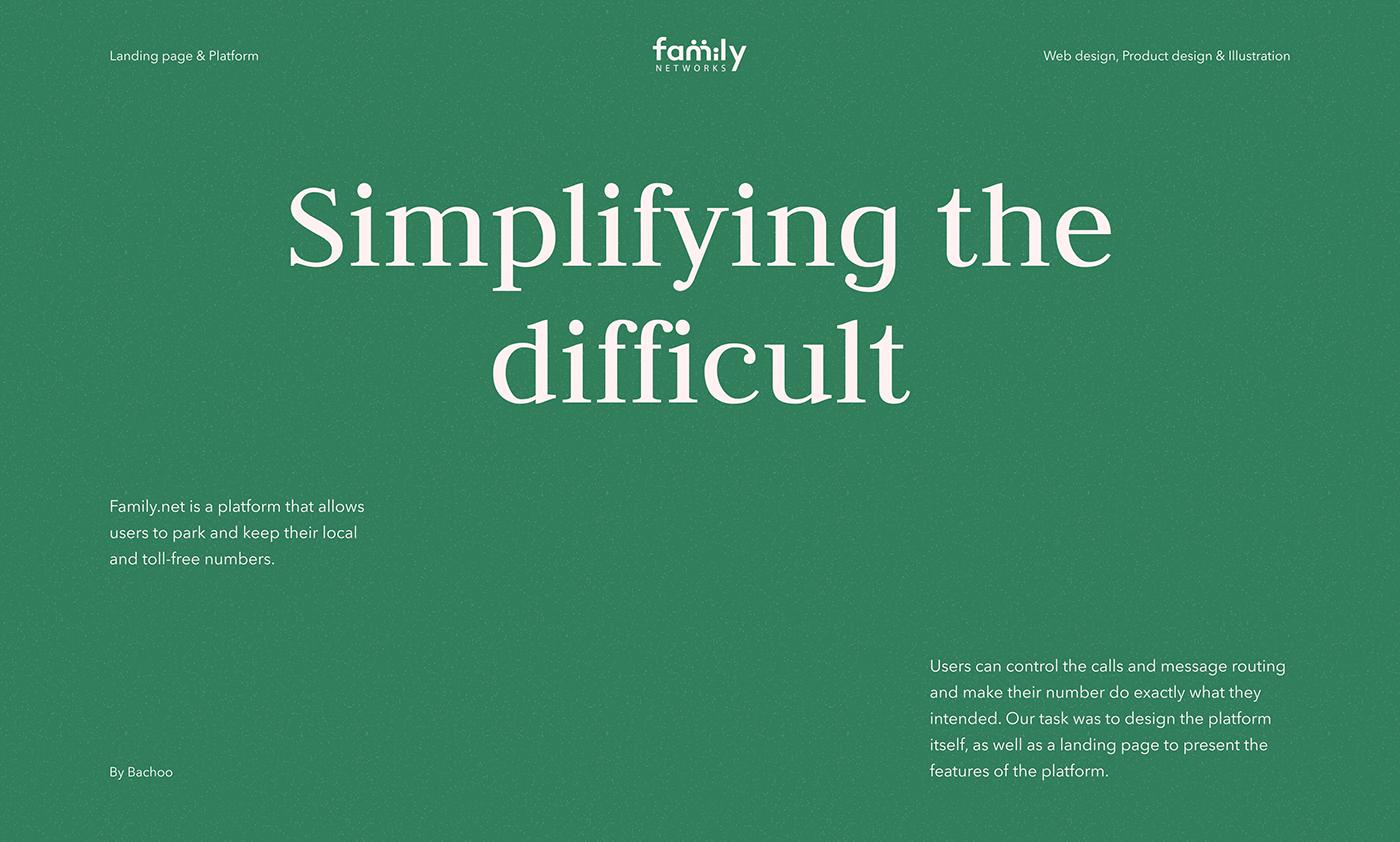 communications cozy family green minimalistic Platform product UI ux Webdesign