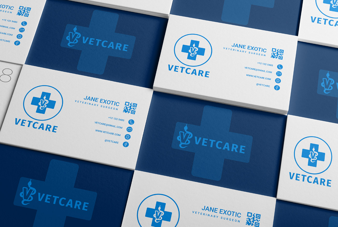 vet logo businesscards