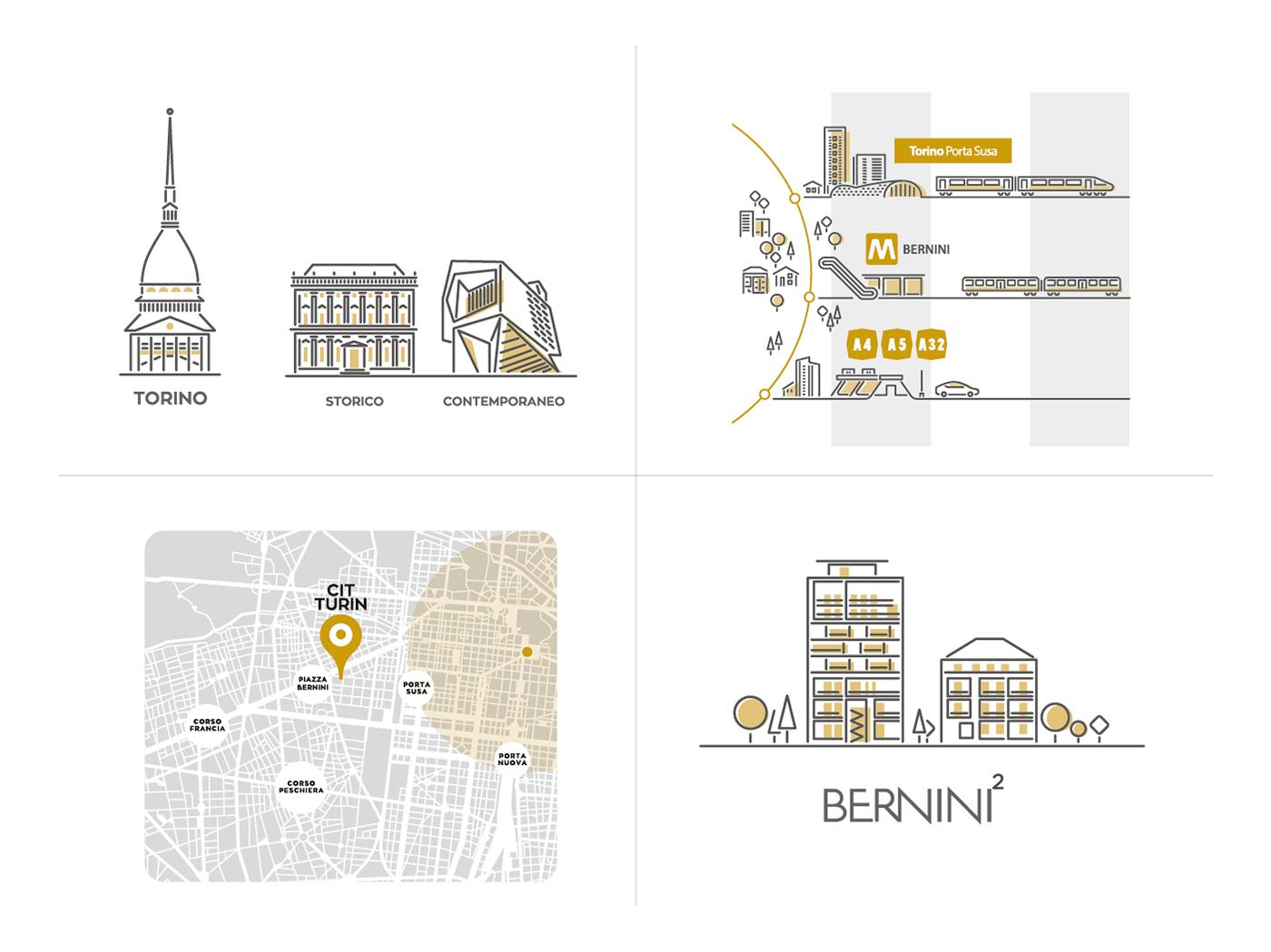architecture architettura Icon Illustrator infografica infograhpic map maps Vectorial vettoriale