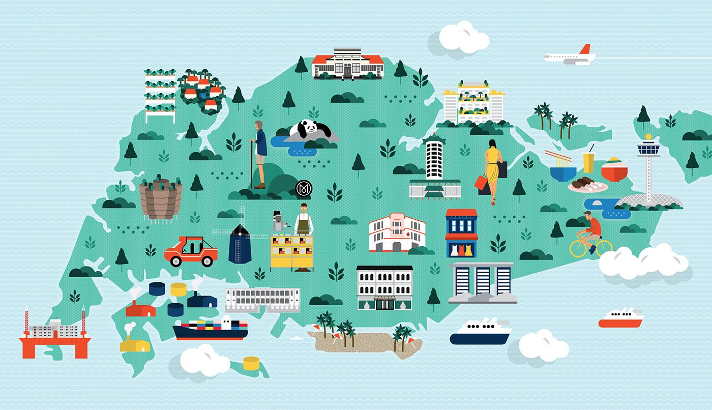 Online Design Tools Monocle Singapore Map On Behance