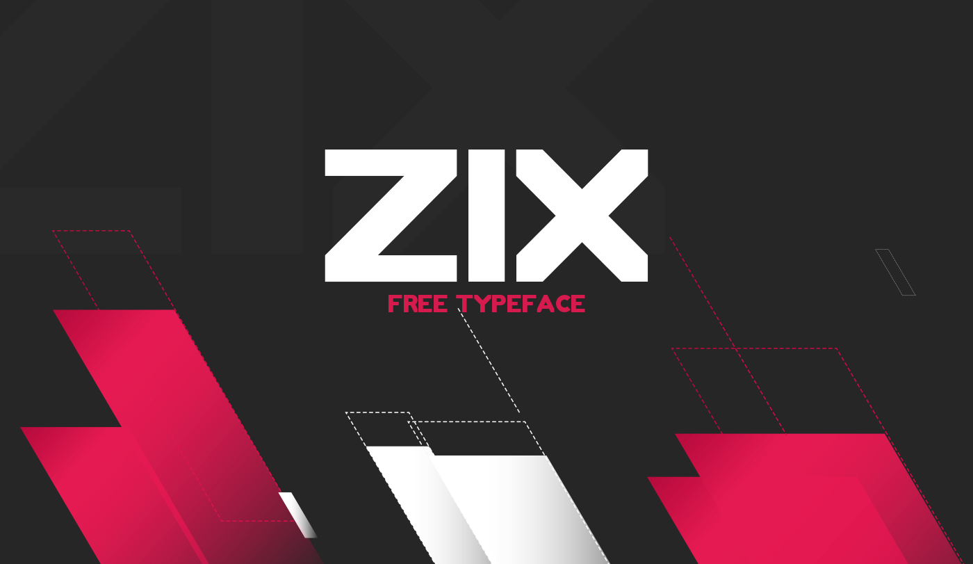 font type free Free font bold Typeface Zix freebie