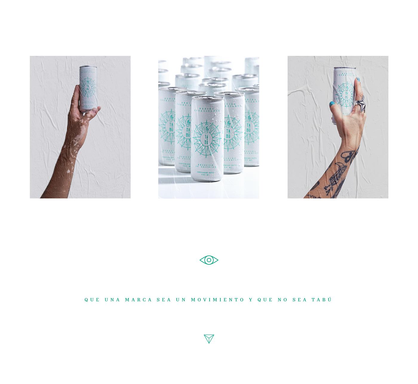 tabu energy drink design colombia marca branding  ad copywriting