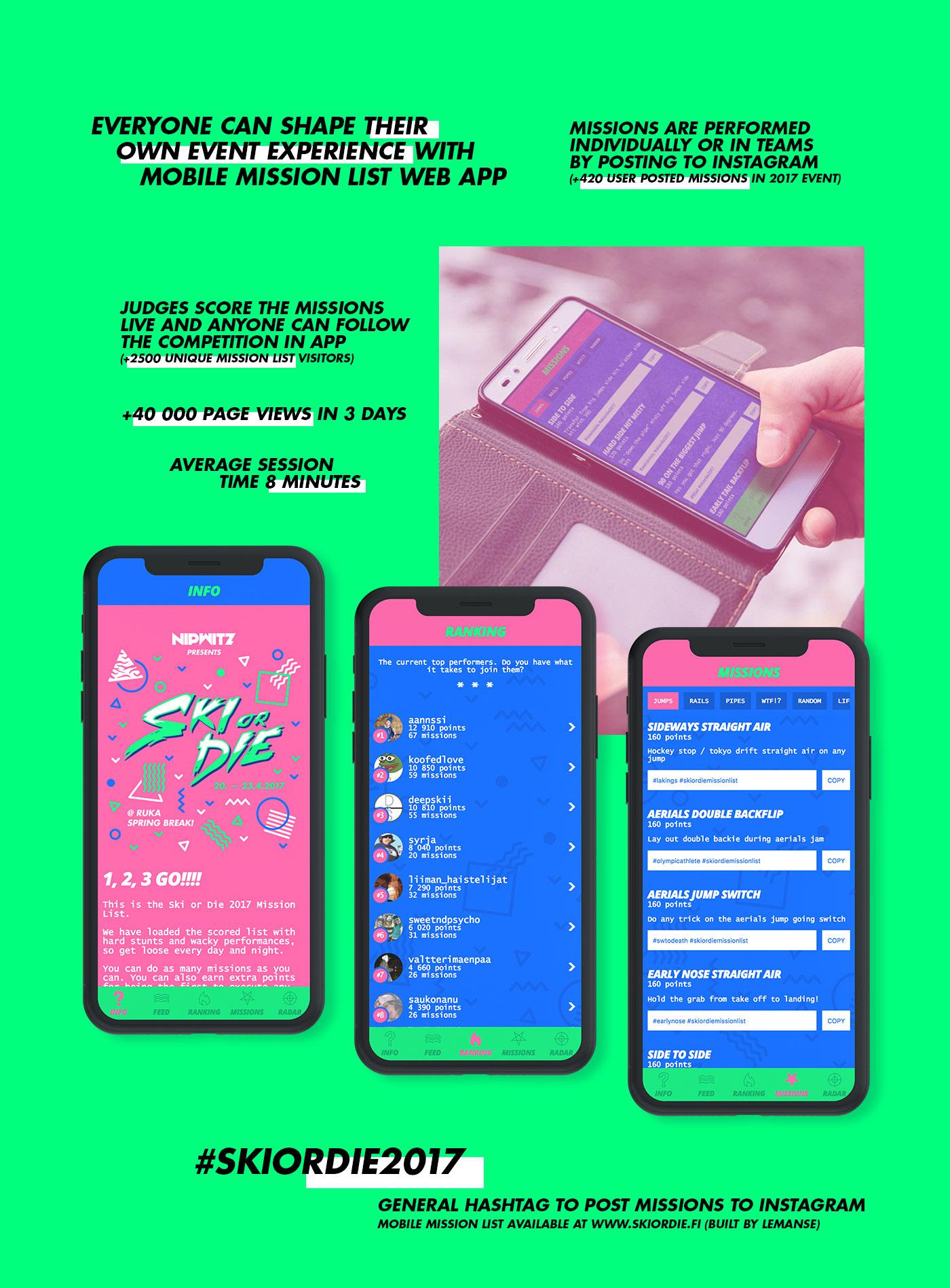 identity Event neon 80's 90's motion graphics  pink branding  app activation