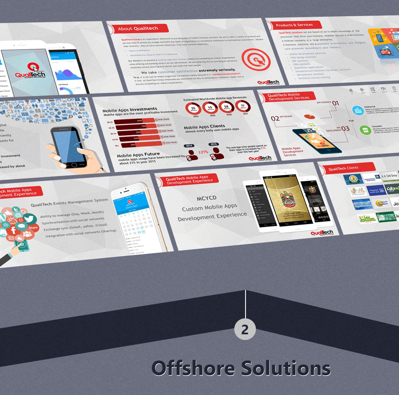 qualitech presentation Powerpoint design sales materials ShowOff Development Solutions