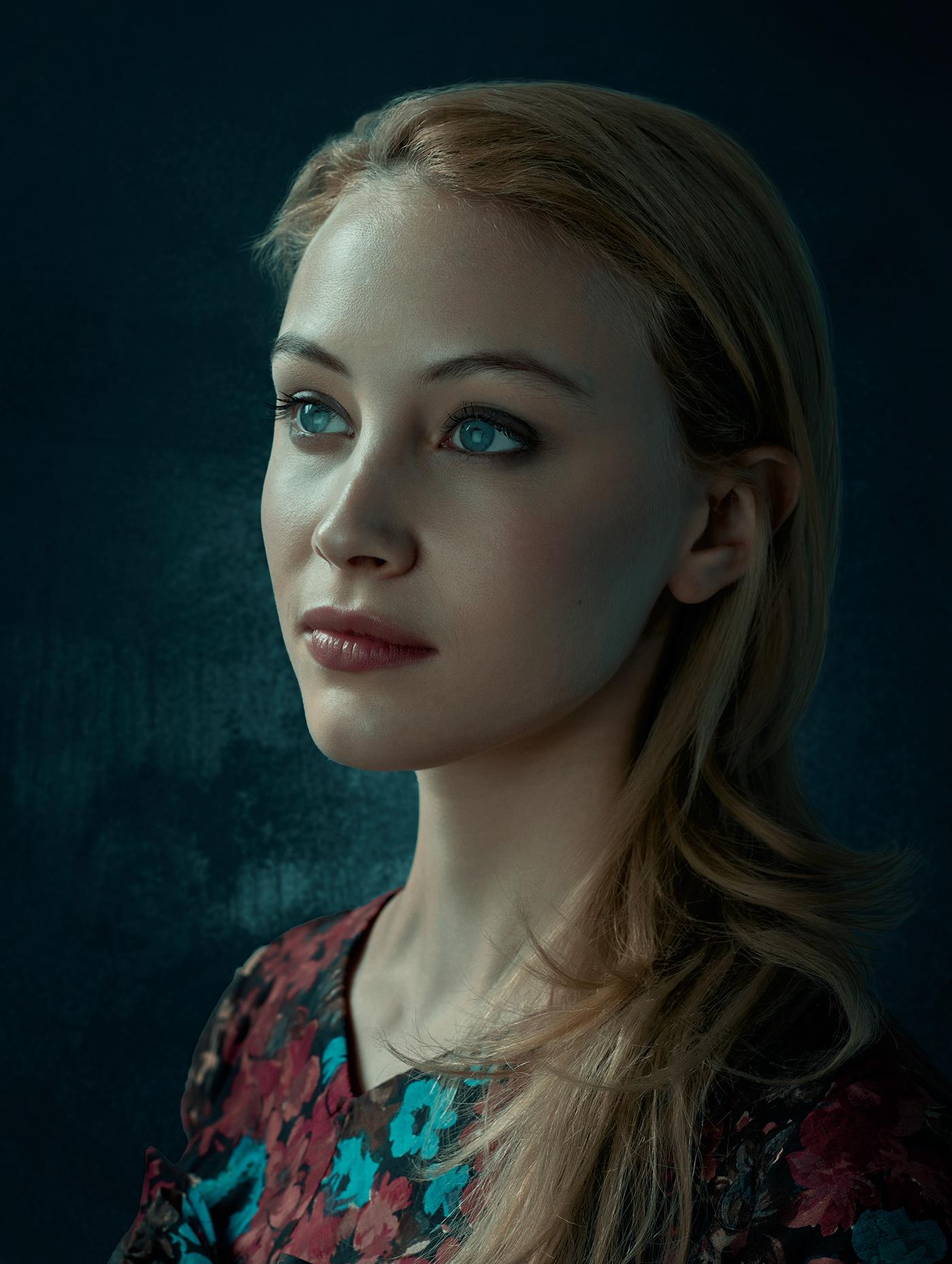 celebrities cinematic color grading Creative Retouching dramatic lighting hollywood lighting portraits