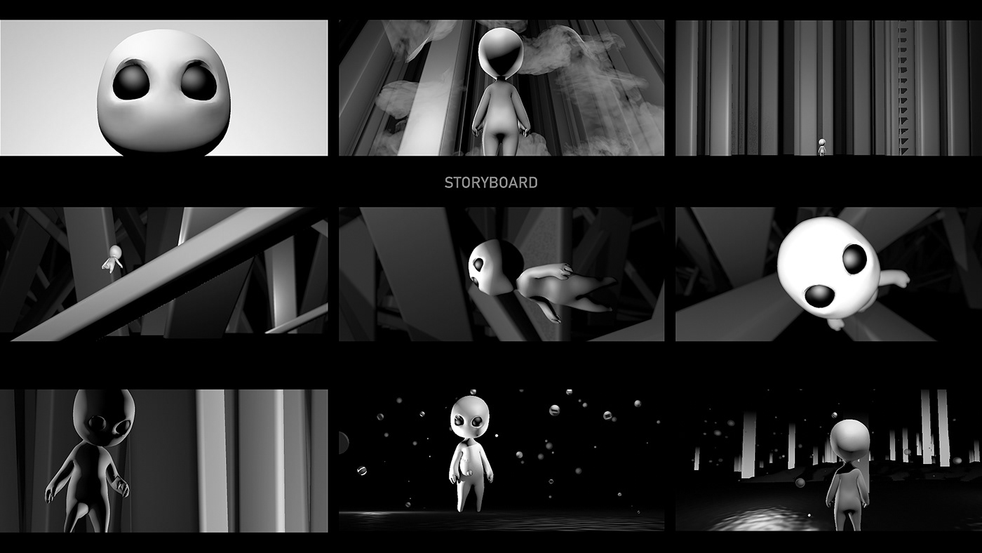 animation  discovery 3D 2D CGI Title poetic dark light firmament