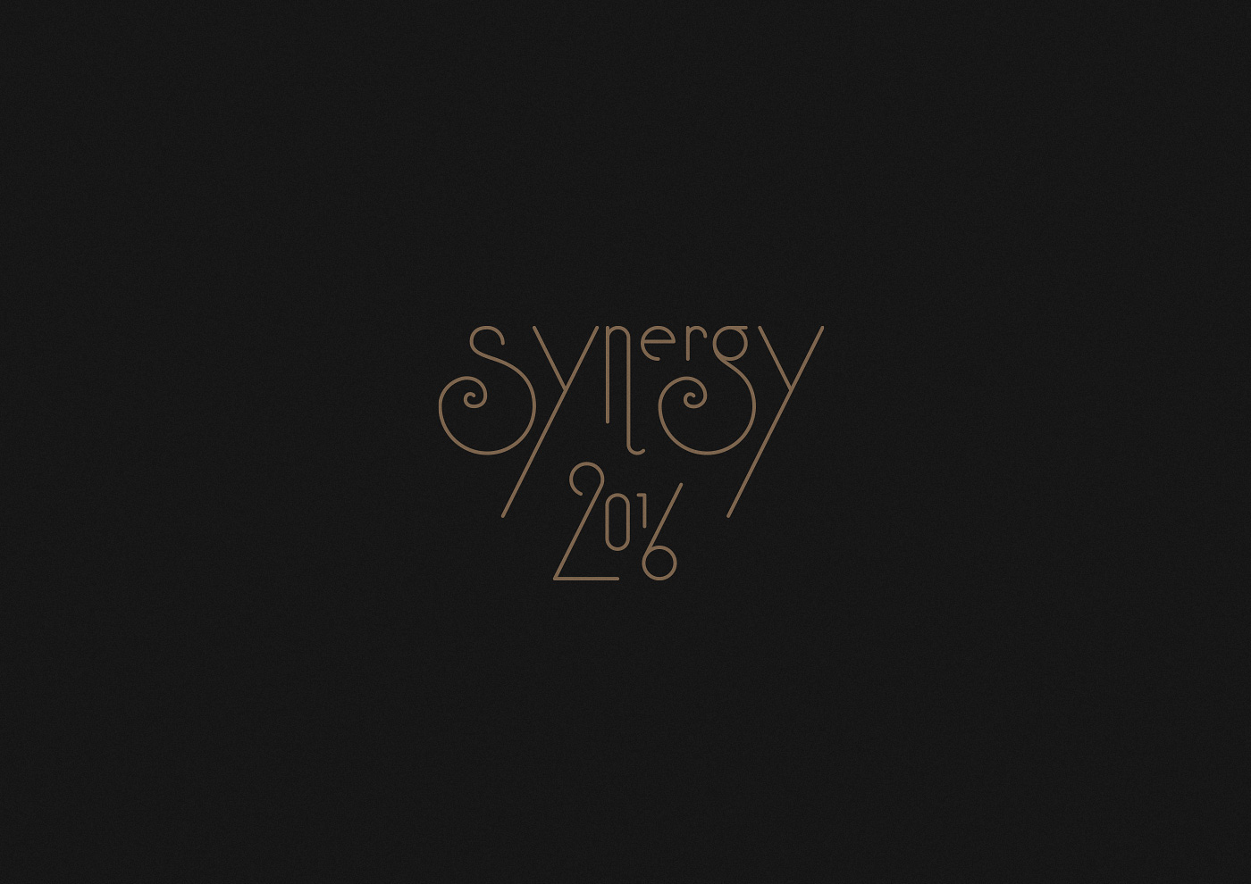 Brand Identity & Graphic Design: First Edition of Synergy Event