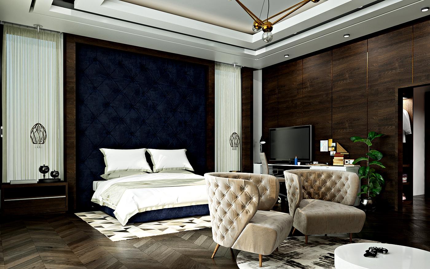 Luxury Boy's bedroom interior design in Kuwait on Behance