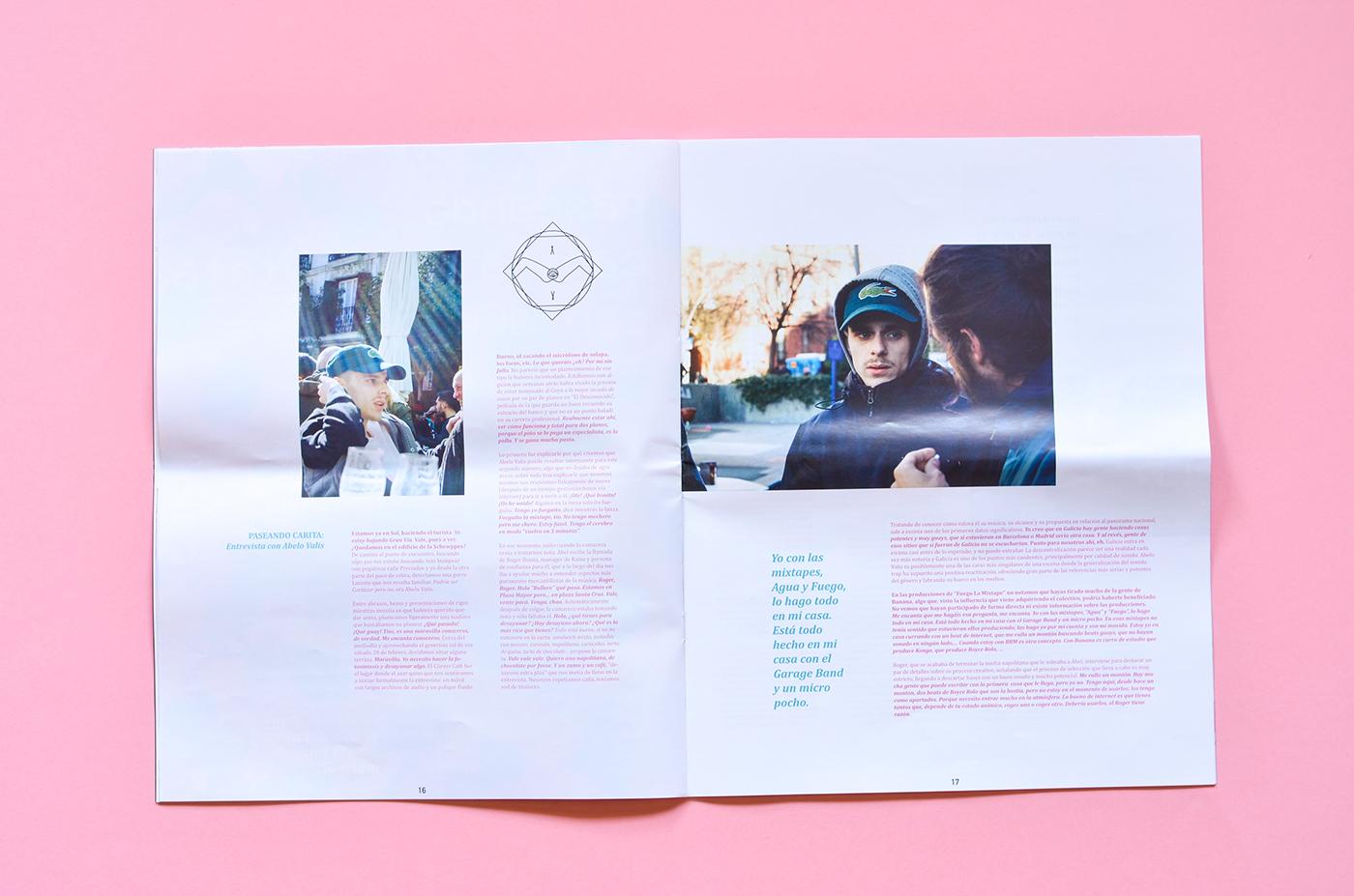 magazine,fanzine,editorial,hip hop,paper,milkshake,pink,rap,music,ILLUSTRATION
