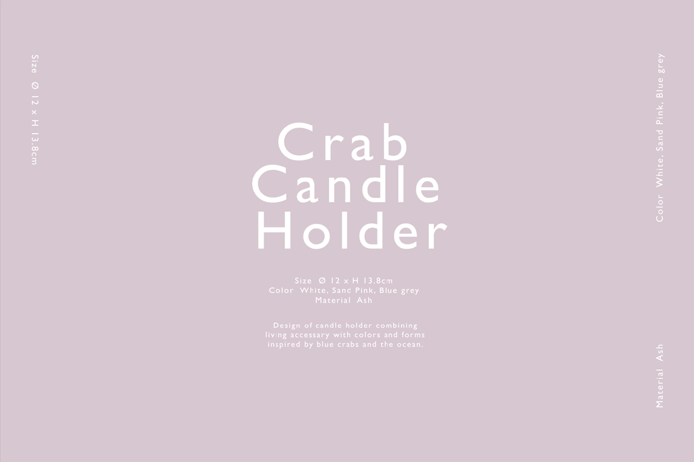 product product design  candle holder crab Nature wood Interior objet 오브제