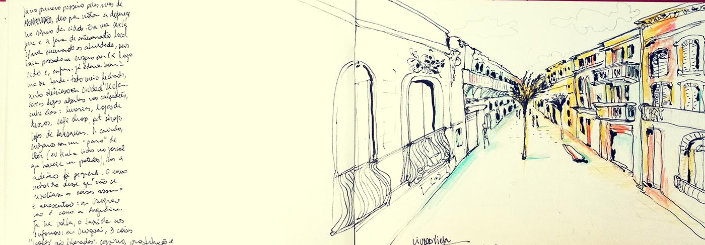 uruguay Montevideo punta del este travelbook sketchbook