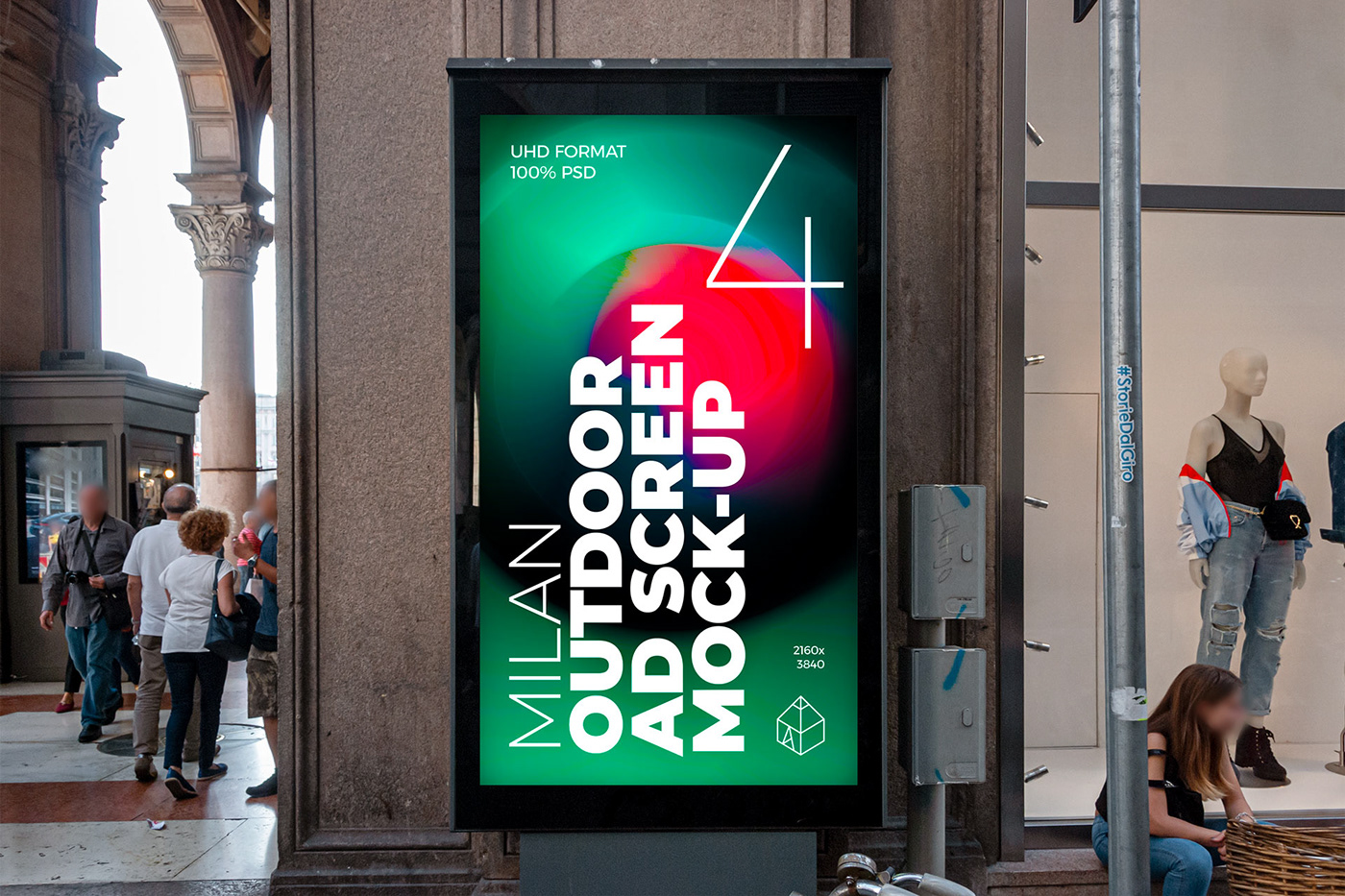 ad advertisement Advertising  milan mock-up Mockup Outdoor poster screen Street