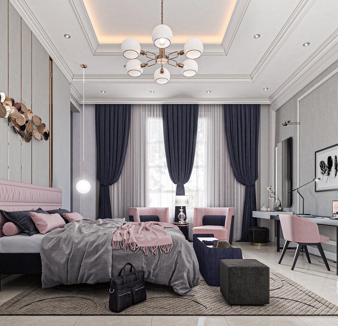 Hình ảnh có thể chứa: trong nhà, rèm và giường