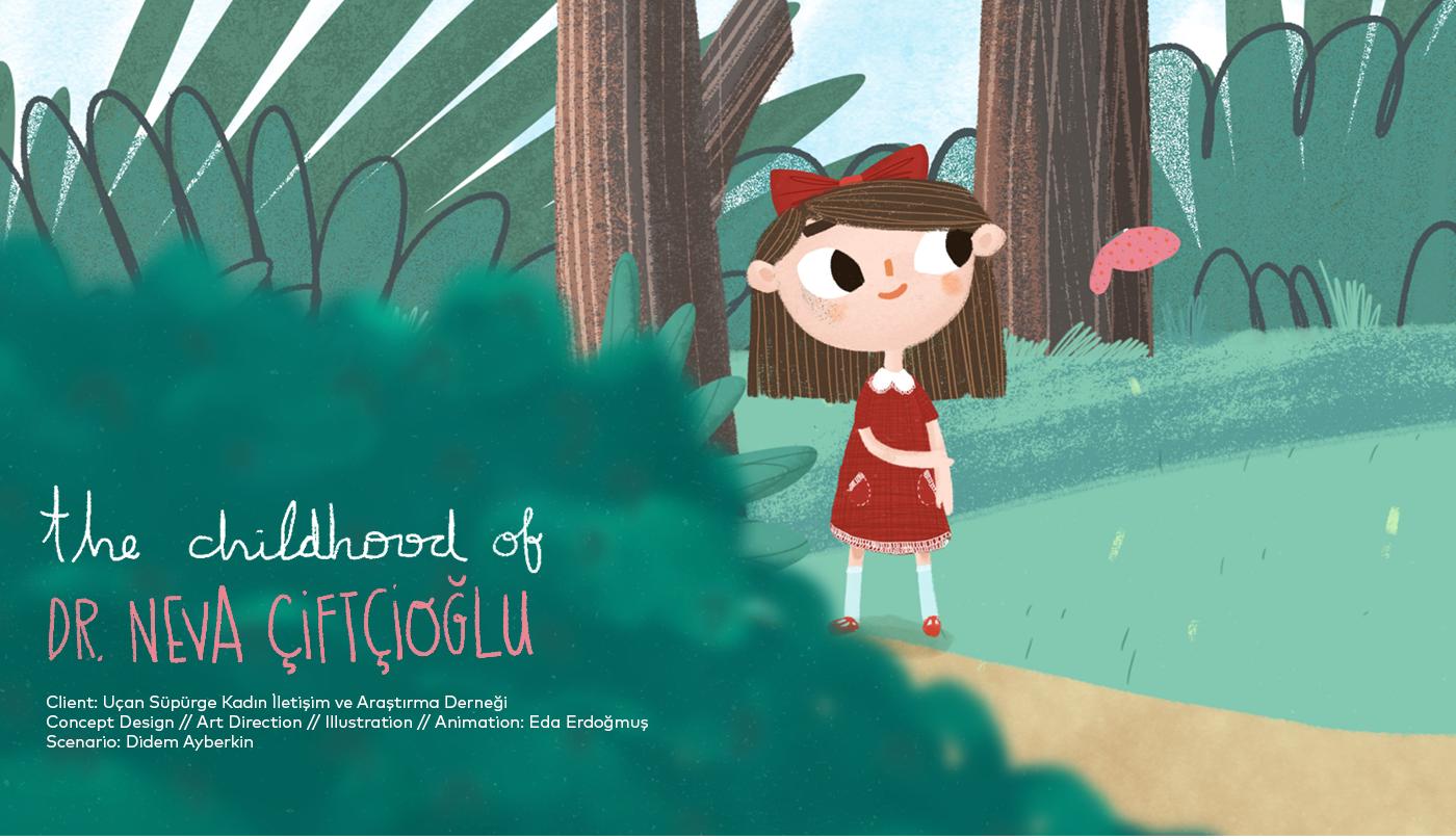 2DAnimation science nasa childhood girl nevaciftcioglu