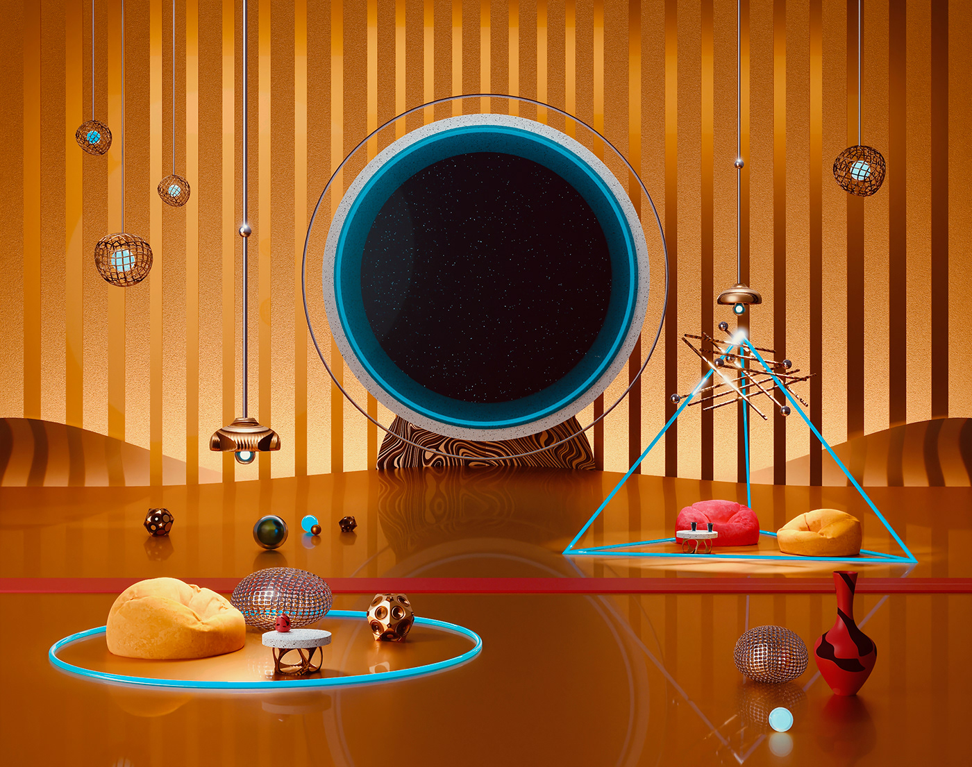 3D blender CGI rendering 3D illustration abstract design cycles