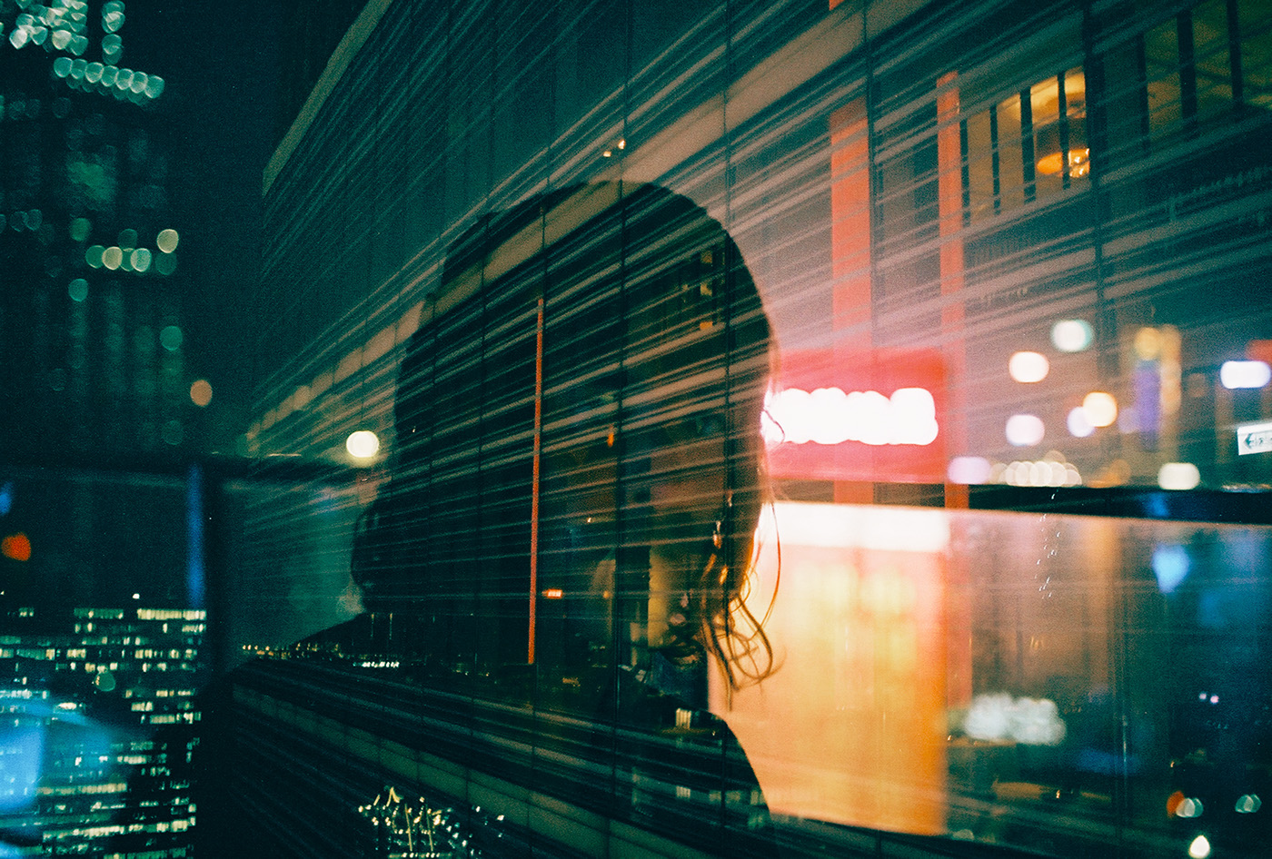Hong Kong Film   architecture double exposure night neon life Style bokeh Street