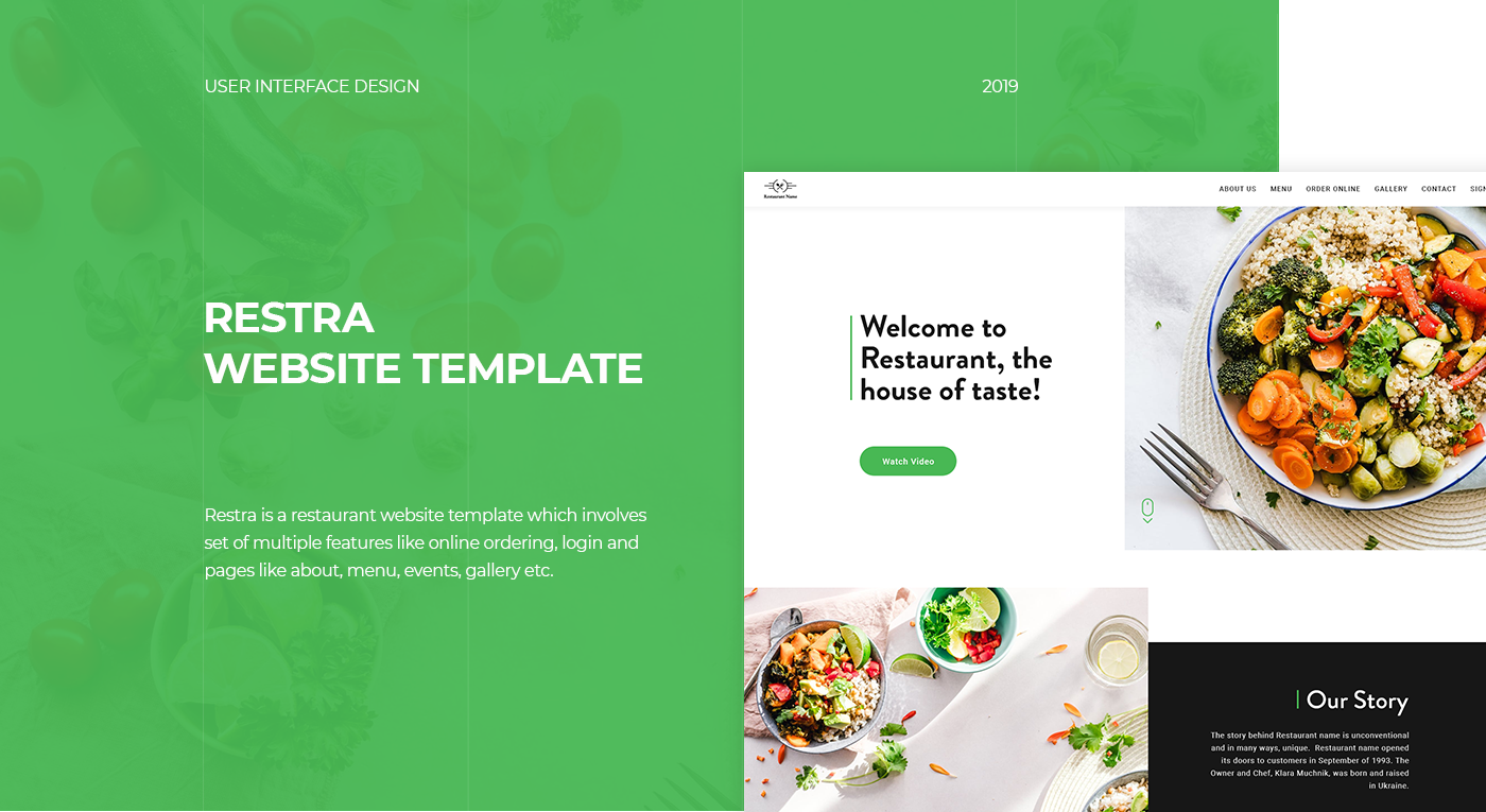 restaurant Website Design menu UserInterface user experience Website dribbble Behance