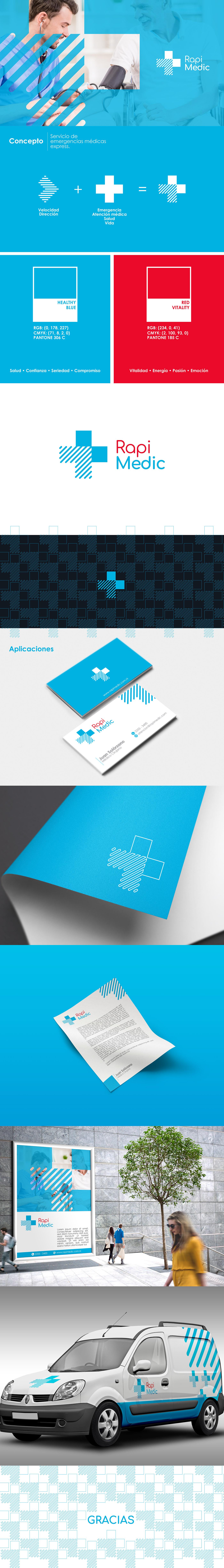 branding  diseño medicina salud express Health rapimedic publicidad marca