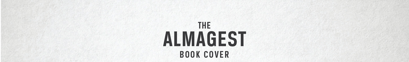 Book Cover   The Almagest on Behance