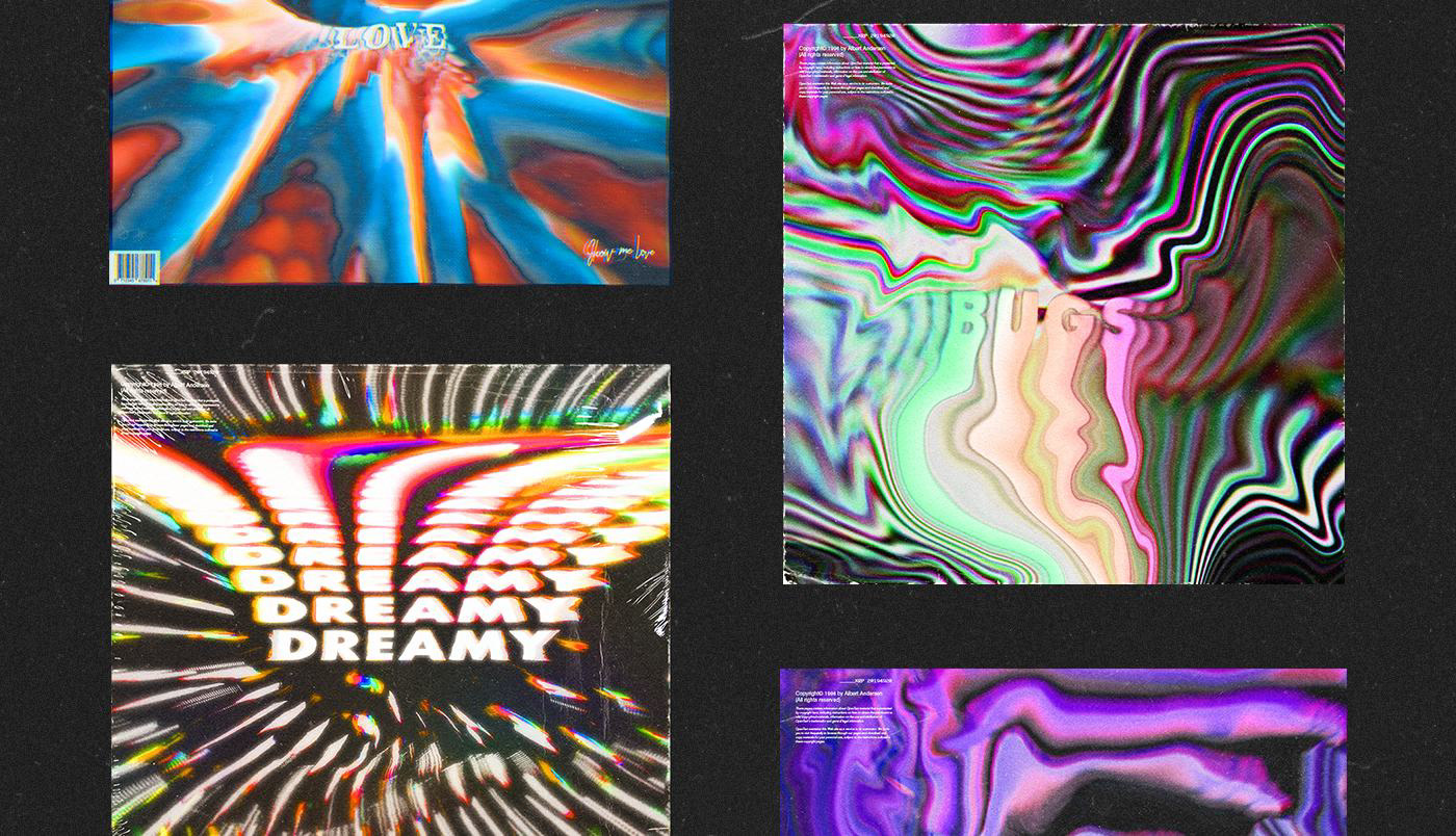 album cover Cover Art album art music Album mixtape Glitch video feedback poster covers