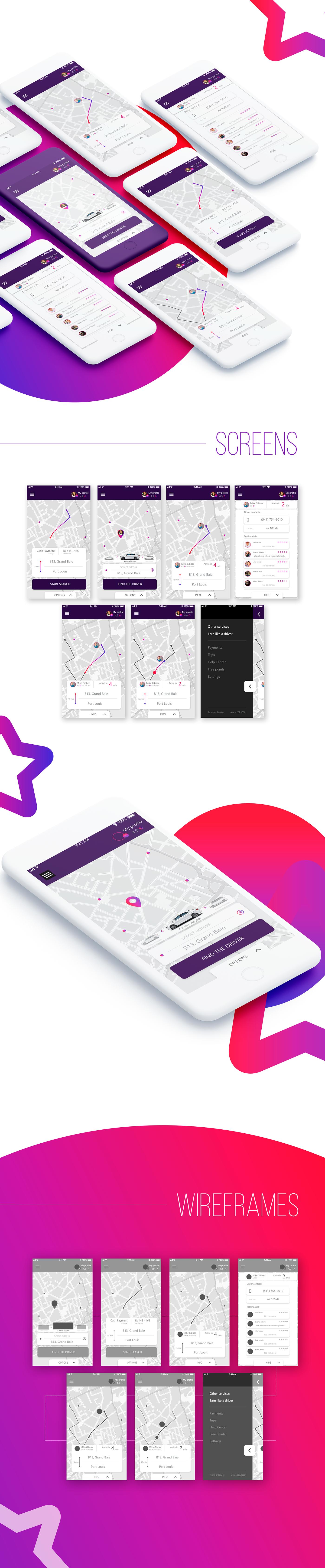 taxi app ios ux UI Uber iphone