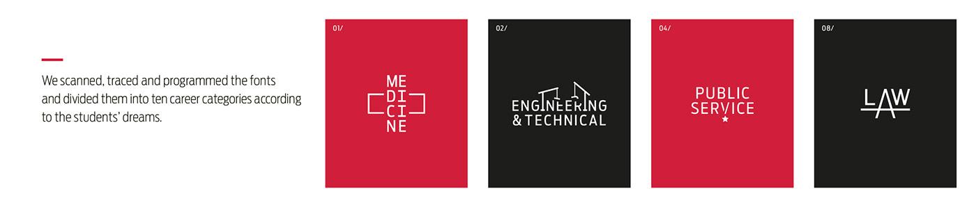 logo monogram typography   Education fonts